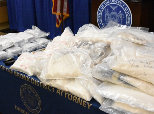 Bags of fentanyl and heroin that were seized by authorities, photo by United States Drug Enforcement Agency