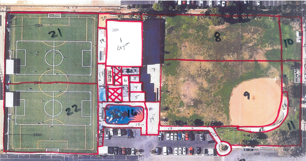 Example of a Neighborhood Park with Target Areas Identified
