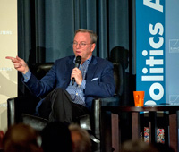 Eric Schmidt at RAND's Politics Aside event