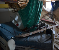 Damage sustained by St. John's Regional Medical Center in Joplin, Mo., after the May 22, 2011 EF-5 tornado, photo courtesy of Elissa Jun/FEMA