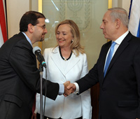 Ambassador Shapiro and Secretary of State Clinton meet with Israeli Prime Minister Netanyahu