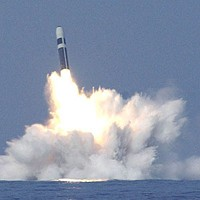 Trident Nuclear Missile explodes in ocean