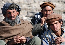 Afghani village men, photo courtesy of defenseimagery.mil/Gay