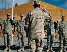 troops take enlistment oath