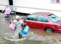 Hurricane Isaac flooding St. John the Baptist Parish, photo by Sgt. Rashawn D. Price/Louisiana Army National Guard