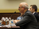 Martin Libicki testifying on how to manage crisis and escalation in cyberspace, photo by RAND