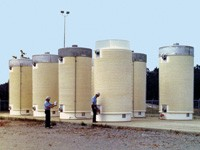 nuclear dry storage tanks, photo courtesy of the Nuclear Regulatory Commission