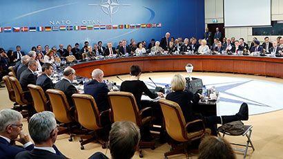 video image: NATO defense ministers attend a meeting at NATO headquarters in Brussels, Belgium, October 26, 2016, photo by Francois Lenoir/Reuters