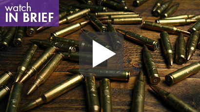 Many bullets on a table, image by RockfordMedia/Getty Images