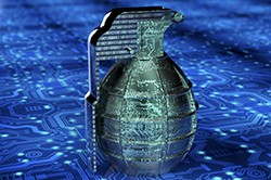 Cyber grenade, photo by the-lightwriter/Getty Images