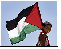 boy holding Palestinian flag, photo courtesy of http://www.flickr.com/photos/rustystewart/300021362/