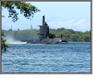 an Australian Collins-class submarine