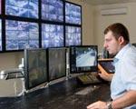 Man watching CCTV network