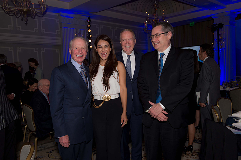 CGRS advisory board member Jacques Dubois with Carla Ortiz, Alan Orlob, and CGRS director Andrew Parasiliti