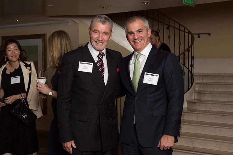 Brian Michael Jenkins with Michael Leiter, vice chair of the RAND Board of Trustees