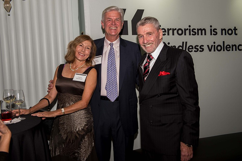 Laura Rockwell, Barry Balmat, and the honoree