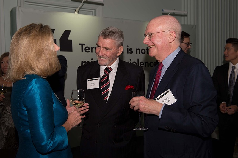 Christine Wormuth, director of the RAND International Security and Defense Policy Center, with Brian Michael Jenkins and Robert Gelbard
