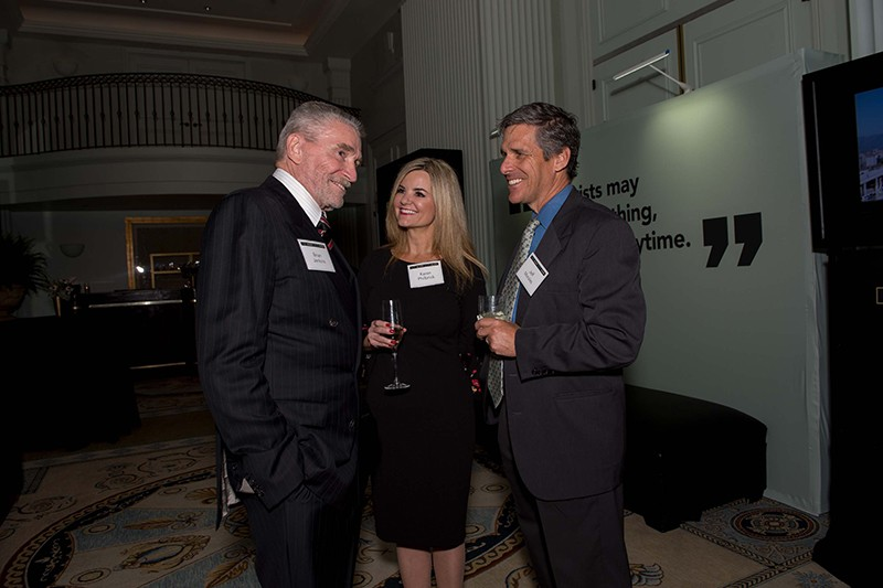 The honoree with Karen Philbrick and Jeff Morales