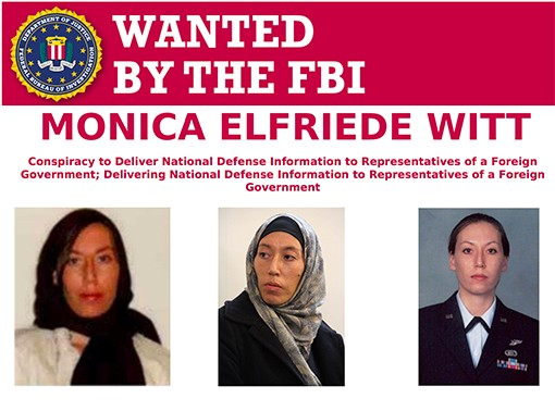 Monica Witt is wanted by the FBI after being charged with conducting espionage for Iran