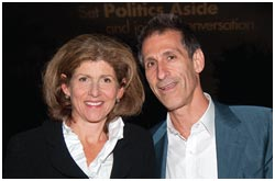 Michael Lynton, chairman and chief executive officer of Sony Pictures Entertainment and cochair of Politics Aside 2010 and his wife, Jamie.