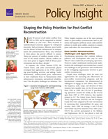 Cover: Policy Insight, Volume 1, Issue 5, October 2007