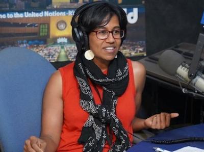 Sinduja Srinivasan hosts the UNcomplicated podcast