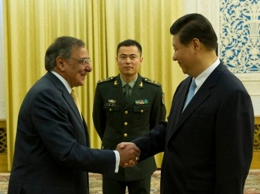 Secretary of Defense Leon E. Panetta shakes hands with Chinese Vice President Xi Jinping prior to a meeting in Beijing China, Sept. 19, 2012