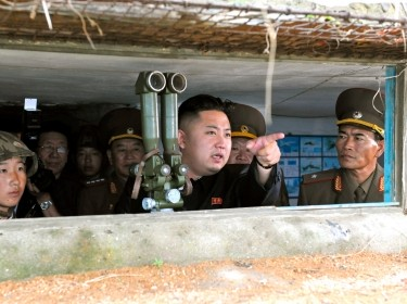North Korean leader Kim Jong-Un visits a military unit on an island in the most southwest of Pyongyang in this picture released by KCNA news agency August 18, 2012