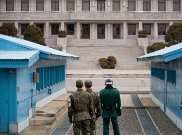 ROK guards in the DMZ