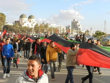 Libyans poured into the streets of Benghazi to celebrate the revolution