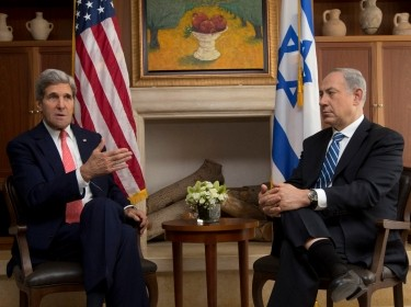U.S. Secretary of State John Kerry meets with Israel's Prime Minister Benjamin Netanyahu in Jerusalem November 6, 2013