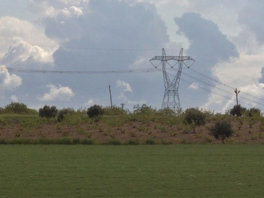 Power lines stretch across rural Turkey, where the World Bank has renewable energy and energy efficiency projects