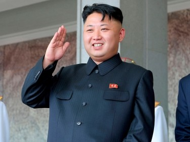 North Korean leader Kim Jong Un visits an outpost at Mount Osung