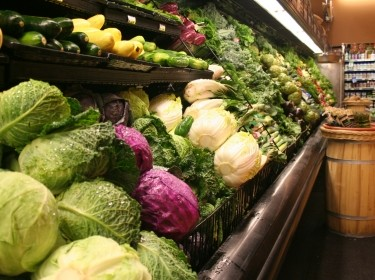 Fresh produce at a grocery store