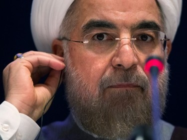 Iran's President Hassan Rouhani during a news conference at the 69th United Nations General Assembly at UN headquarters in New York, September 26, 2014