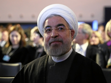 Iranian President Hassan Rouhani at the annual meeting of the World Economic Forum in Davos, January 22, 2014