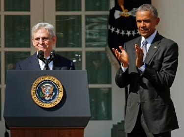Judge Merrick Garland speaks after President Obama announced him as his nominee to the U.S. Supreme Court, March 16, 2016