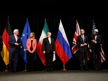 World foreign ministers/secretaries of state in Vienna, Austria, July 14, 2015, when Iran and six major world powers reached a nuclear deal