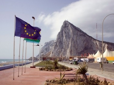 Gibraltar profile with Euro flag