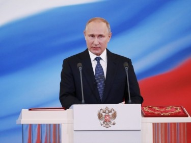 Vladimir Putin is sworn in as president during an inauguration ceremony at the Kremlin in Moscow, Russia, May 7, 2018
