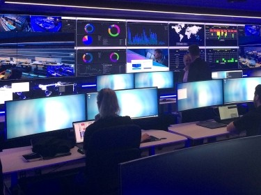 The Security Operation Centre for Telstra, Australia's biggest telecoms firm, which is used to monitor, detect and respond to security incidents, including cyber attacks, in Sydney, Australia, August 24, 2017