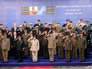 NATO Chiefs of Defense meet during the NATO Military Committee Conference at Royal Castle in Warsaw, Poland, September 28, 2018
