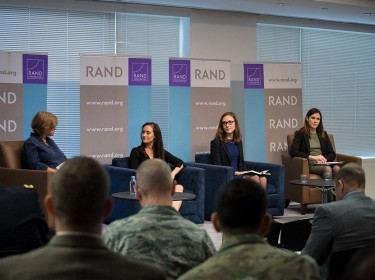 Panelists at the Roberta Wohlstetter Forum on National Security in Arlington, Virginia, October 24, 2018, photo by Grace Evans and Khorshied Samad/RAND Corporation
