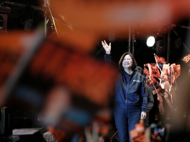 Taiwan President Tsai Ing-wen attends a campaign rally ahead of the presidential election in Taipei, Taiwan, December 21, 2019, photo by Tyrone Siu/Reuters