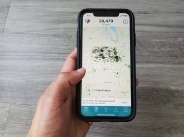 The Care19 mobile app, developed by the State of North Dakota to assist in contact tracing during the global outbreak of the COVID-19, April 24, 2020, photo by Paresh Dave/Reuters