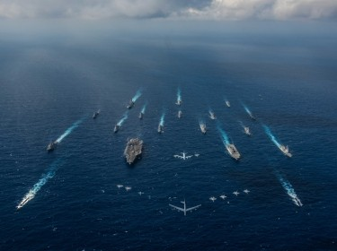 U.S. Navy vessels in the Philippine Sea, November, 2018, photo by MC2 Kaila V. Peters/U.S. Navy
