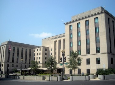"The Harry S. Truman Building, headquarters of the U.S. Department of State, in Washington, D.C., <a href=""https://commons.wikimedia.org/wiki/File:U.S._State_Department_-_Truman_Building.JPG"">photo</a> by <a href=""https://commons.wikimedia.org/wiki/User:APK"">AgnosticPreachersKid</a> / <a href=""https://creativecommons.org/licenses/by-sa/3.0/deed.ene"">CC BY-SA 3.0</a>"