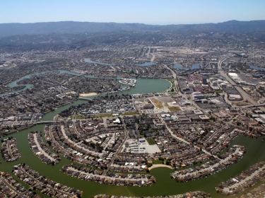 An aerial view of Foster City, California, April 19, 2009