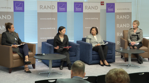 Nadia Bilbassy, Yuna Wong, Cherie Emerson, and Lara Schmidt discuss the uncertain future of warfare at the 2018 Roberta Wohlstetter Forum on National Security.