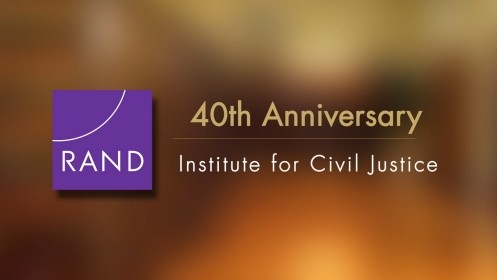 This video details the mission and history of the RAND Institute for Civil Justice.